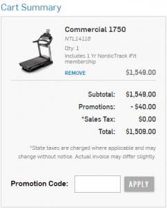 NordicTrack sale