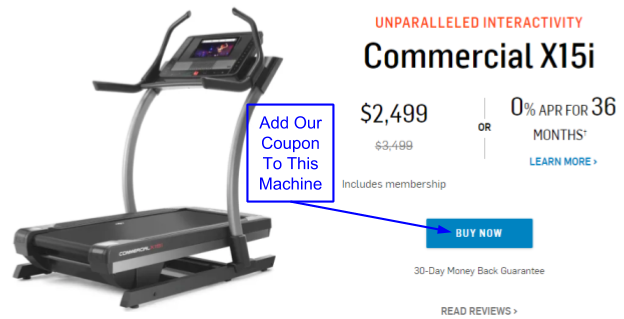 NordicTrack Commercial X15i Incline Trainer Coupons And