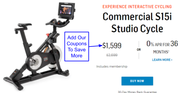 NordicTrack S15i Studio Cycle Coupon