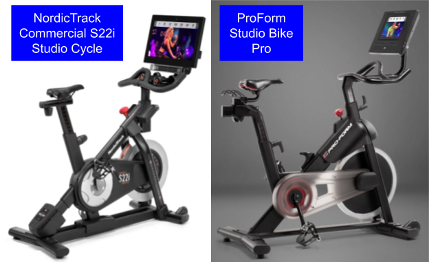 NordicTrack s22i vs Proform Studio Bike Pro