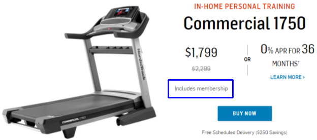 NordicTrack Commercial 1750 Membership