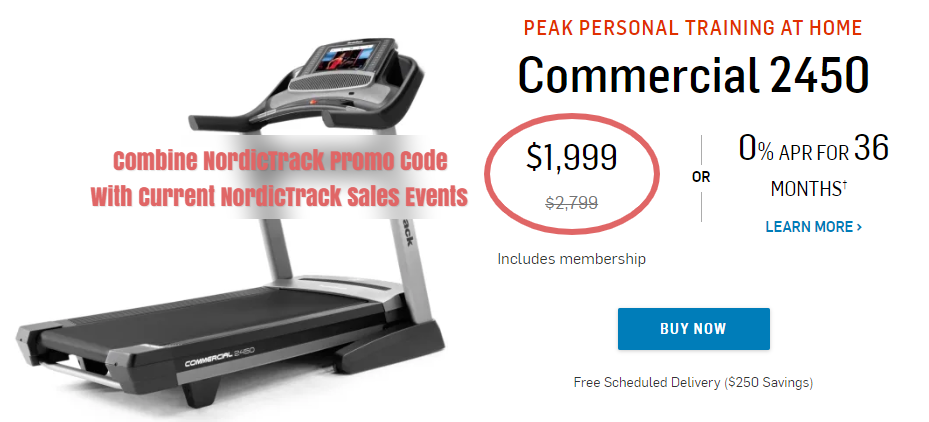 NordicTrack Commercial 2450 Promo Codes