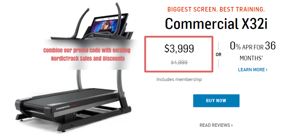NordicTrack Commercial X32i Incline Trainer Promo Codes