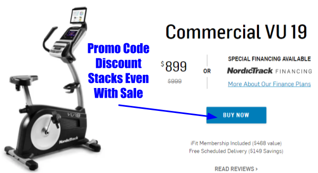 NordicTrack Commercial VU19 Exercise Bike Coupons And Promo Codes