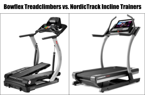 Bowflex Treadclimbers vs. NordicTrack Incline Trainers