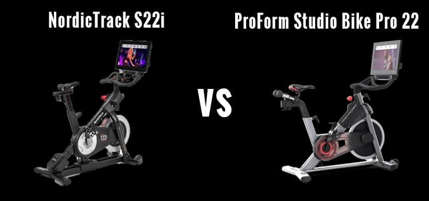 NordicTrack S22i v ProForm Studio Bike Pro 22